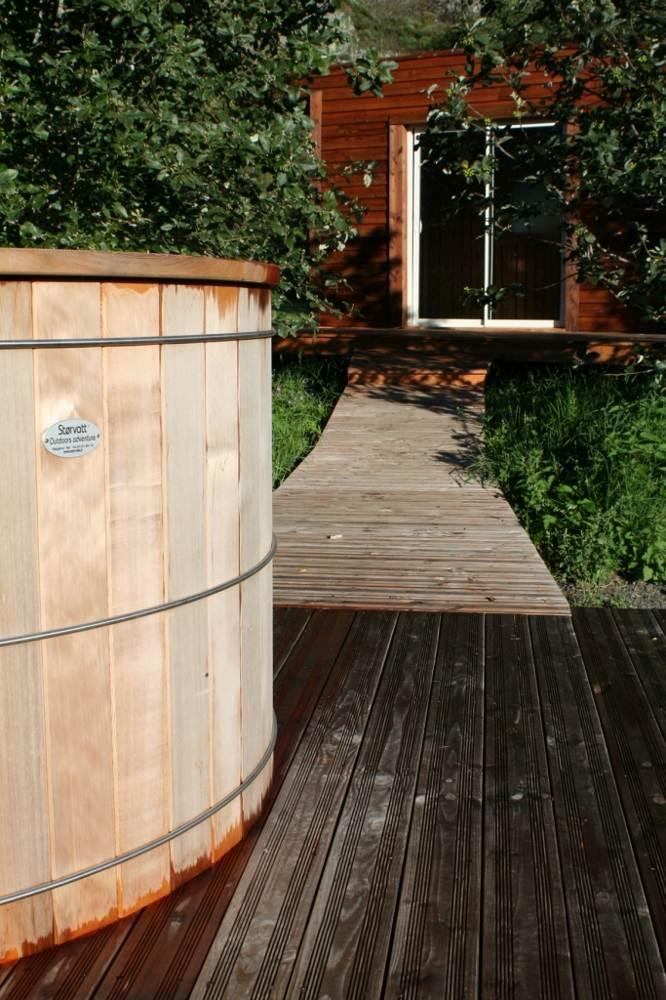 bain finlandais, sauna chauffé au bois