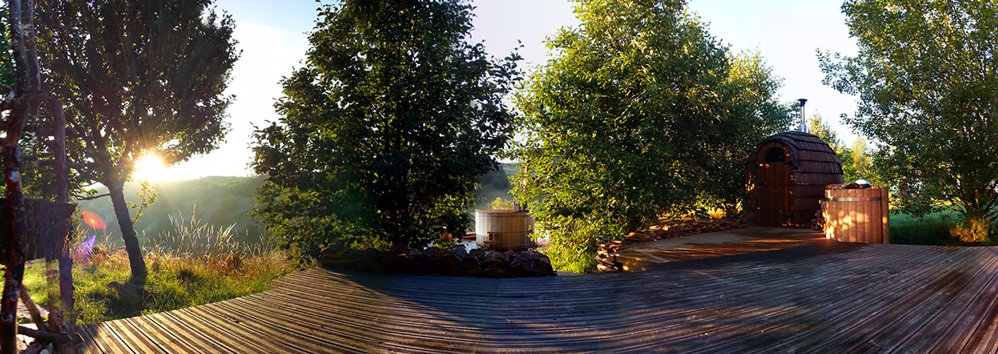 Bain finlandais + sauna bois + sauna infra-rouge