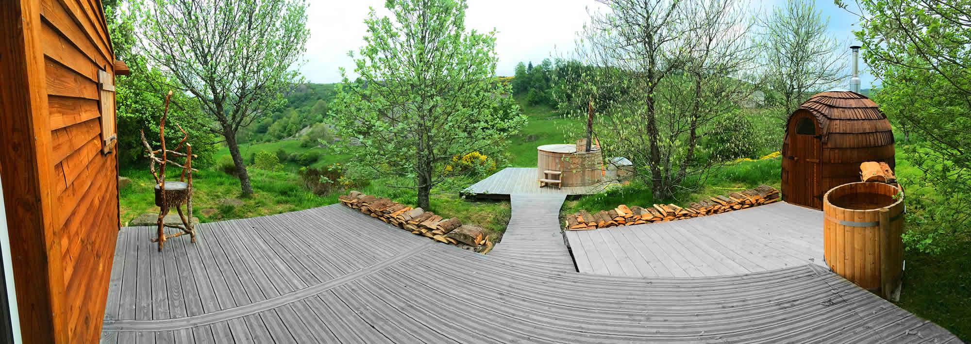 Bain finlandais + sauna bois
